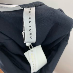 Trina Turk Swim - Trina Turk Black Ruffle V Neck Swim Suit